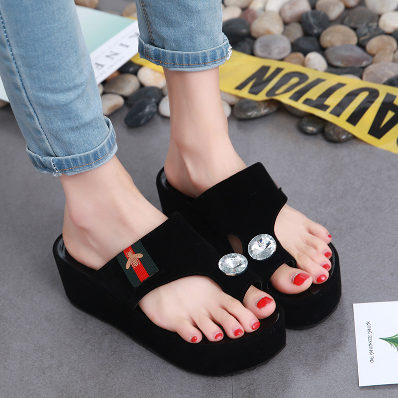 Fashion high hill slippers/sandals, portable and light footwear - cover photo